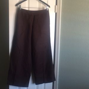 Loft Linen/Rayon Wide Leg Pants